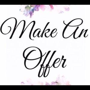 Always open to reasonable offer.